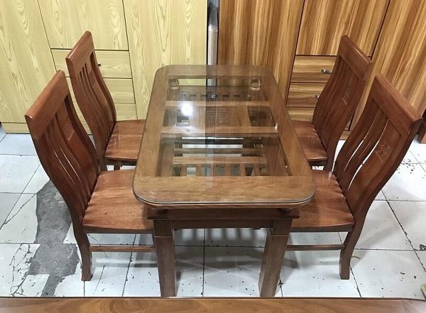 Bàn ăn Xoan Đào 4 ghế 2 tầng - SP505