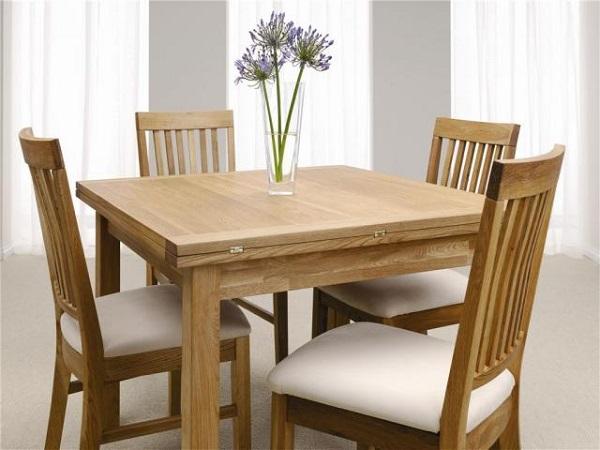 Chọn bàn ăn gam màu tươi sáng thích hợp với không gian mang phong cách hiện đại