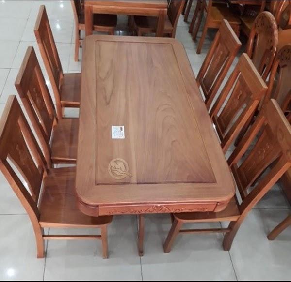 Bàn ghế ăn 6 ghế chân tiện CN - SP206
