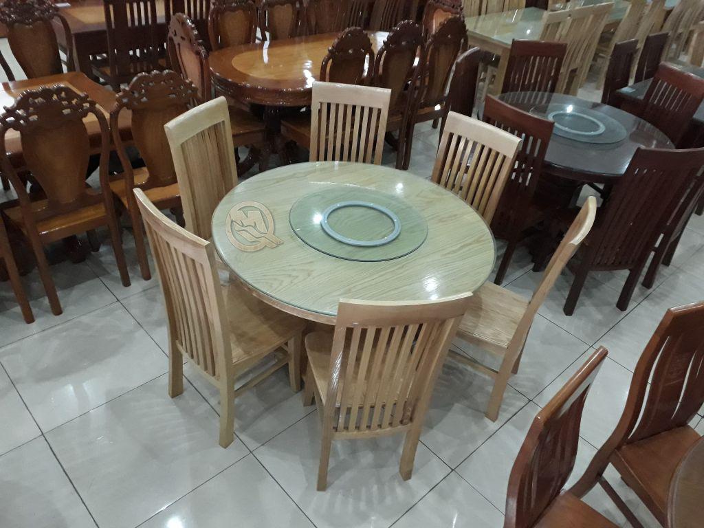 Bộ bàn ăn tròn xoay 6 ghế - SP329 tại xưởng giá rẻ