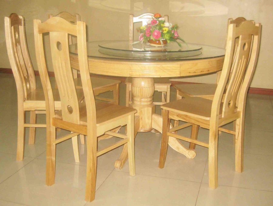 Thiết kế bộ bàn ăn xoay 6 ghế