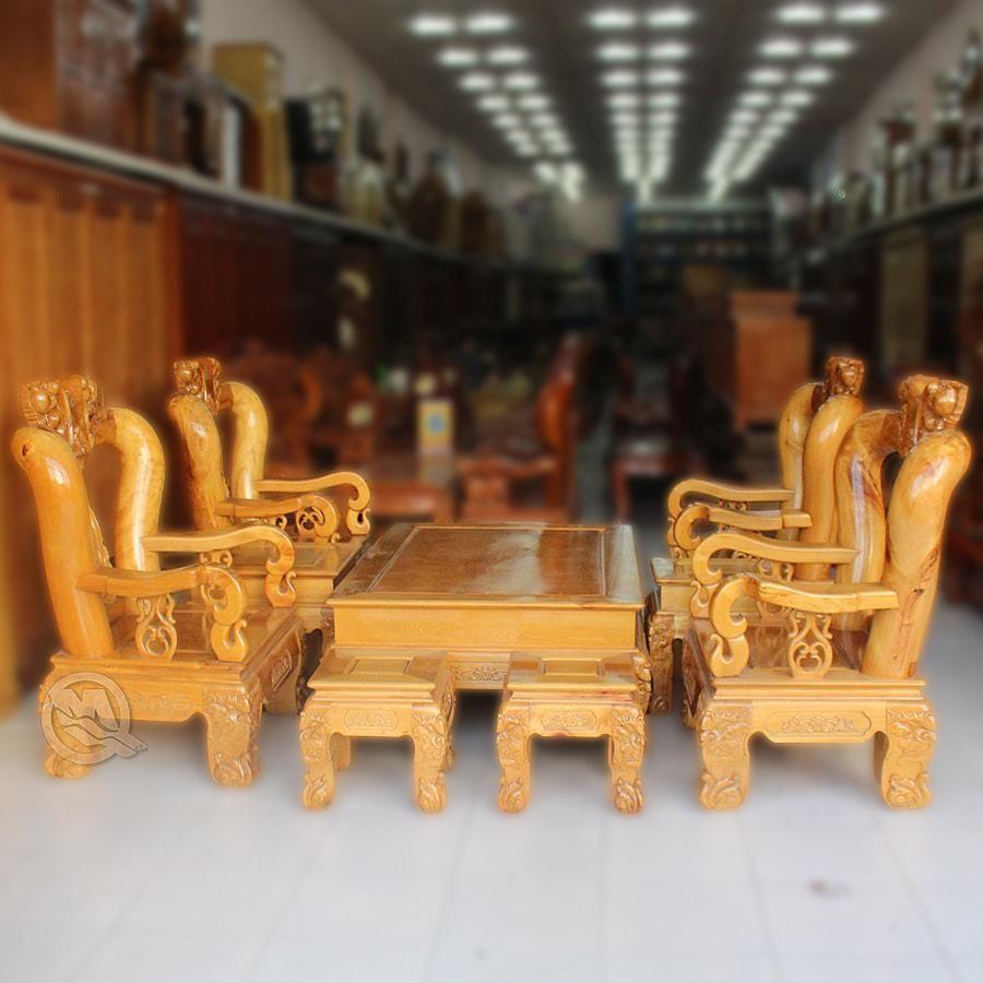 Bộ bàn ghế phòng khách gỗ Pơ Mu - SP382