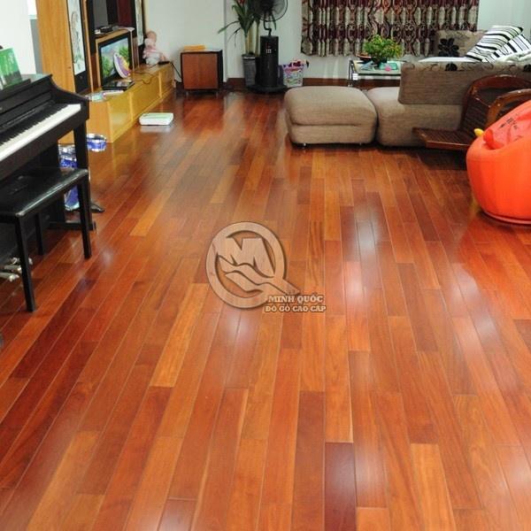Sàn gỗ từ gỗ căm xe