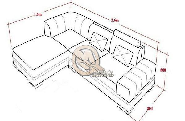 Kích thước sofa góc L cho không gian nhỏ