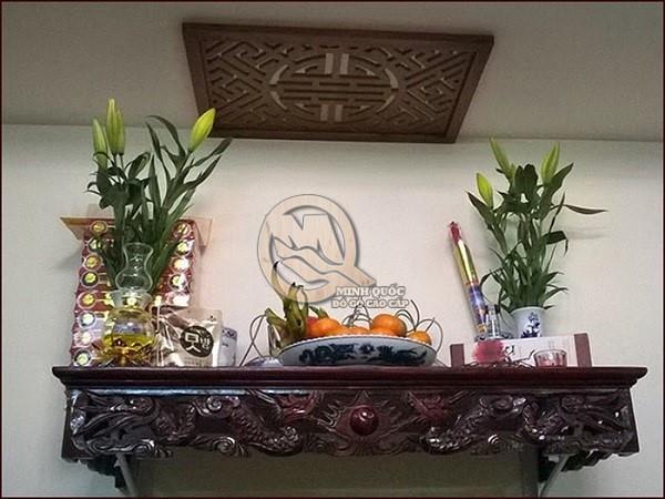 Kích thước bàn thờ treo tường theo phong thủy