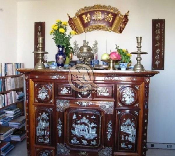 Cách trang trí bàn thờ gia tiên đúng phong thủy