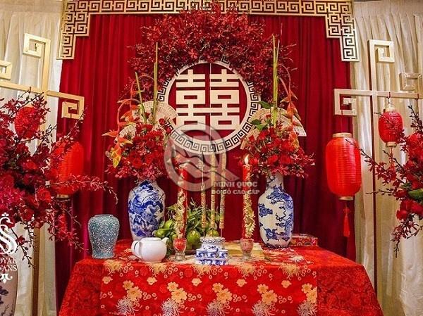 Cách trang trí bàn thờ gia tiên ngày cưới