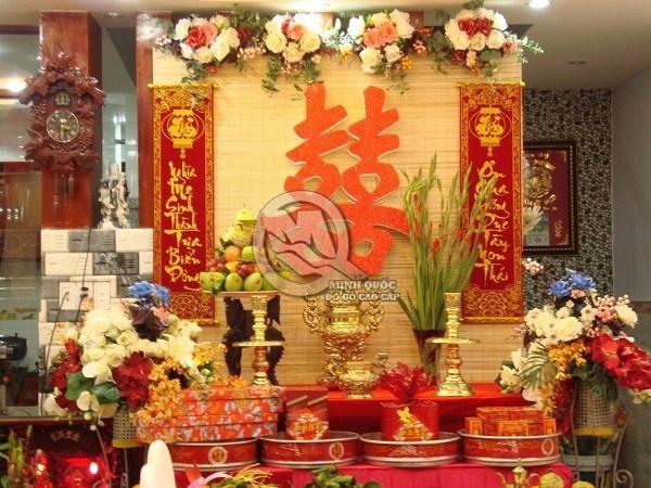 Bàn thờ gia tiên ngày cưới Miền Trung