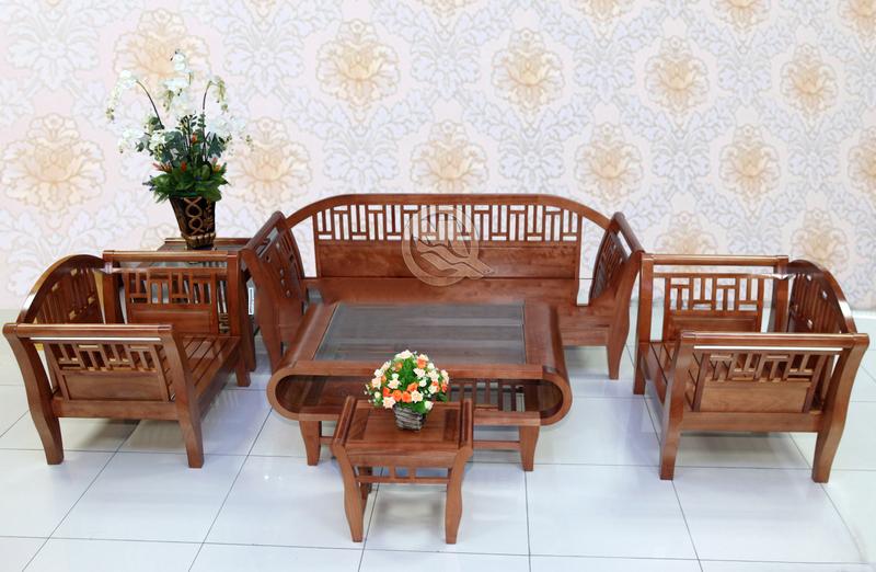 Bộ bàn ghế Gỗ Sồi Tay Hộp - SP21