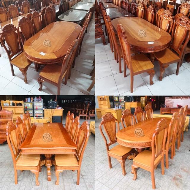 Bàn ghế ăn gỗ gõ đỏ