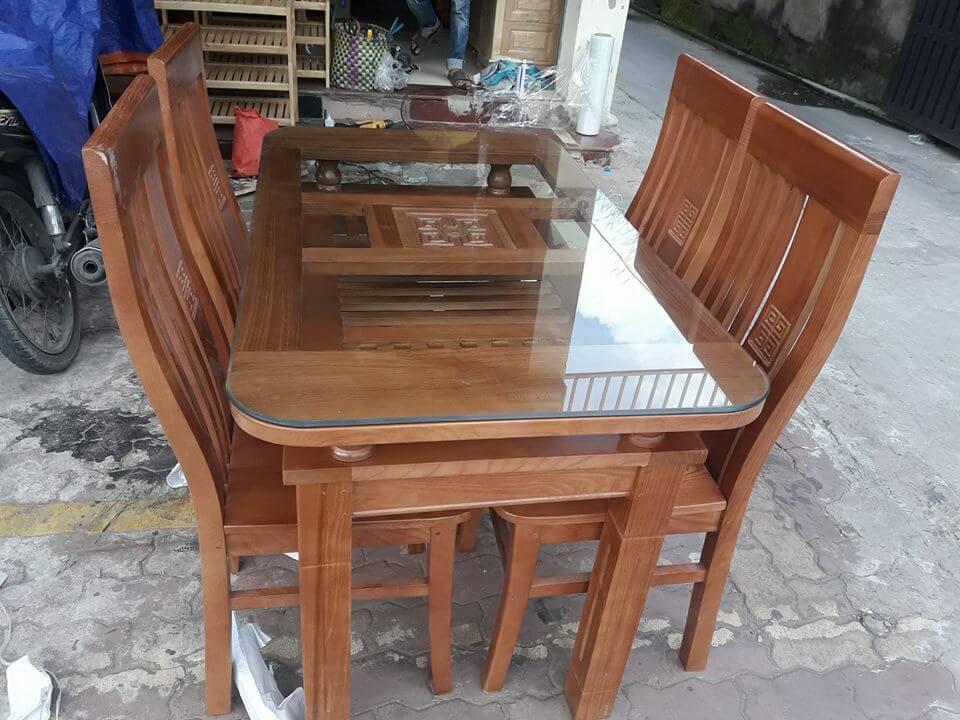 Bàn ăn gỗ xoan đào Minh Quốc