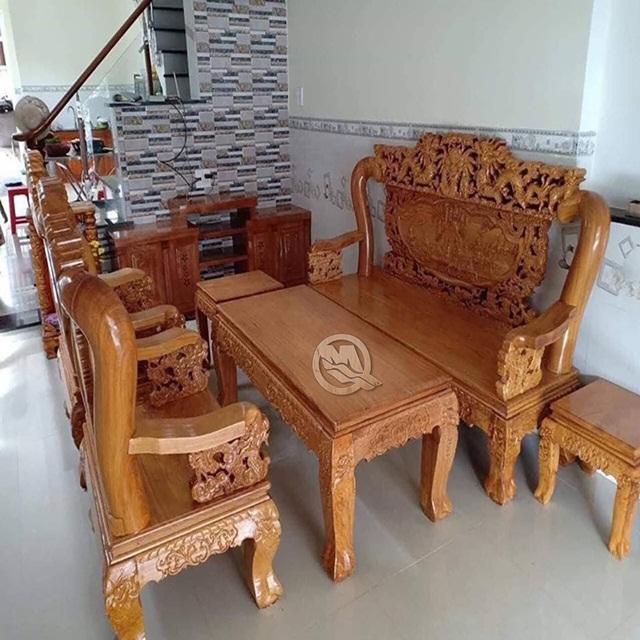 Bộ bàn ghế gỗ chân tiện