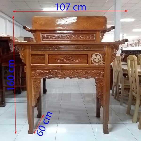 Bàn Thờ 2 Tầng Gỗ Căm Xe 107cm - SP646