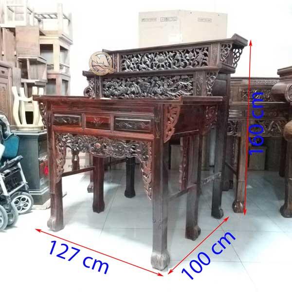 Bàn Thờ 3 Tầng Muồng 127cm - SP650