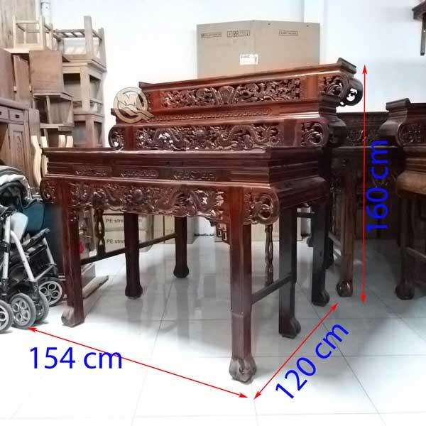 Kích Thước Bàn Thờ 3 Tầng Muồng Tay Cuốn - SP651