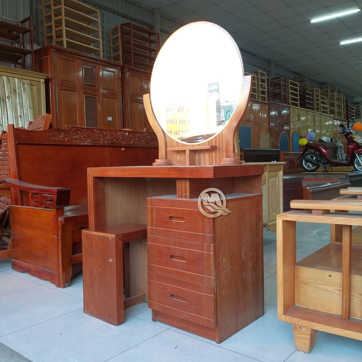 Bàn Trang Điểm Gương Tròn 3H 80 - SP567