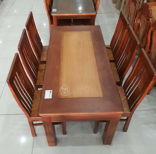 Bộ bàn ăn căm gõ chân lớn TLKT - SP388