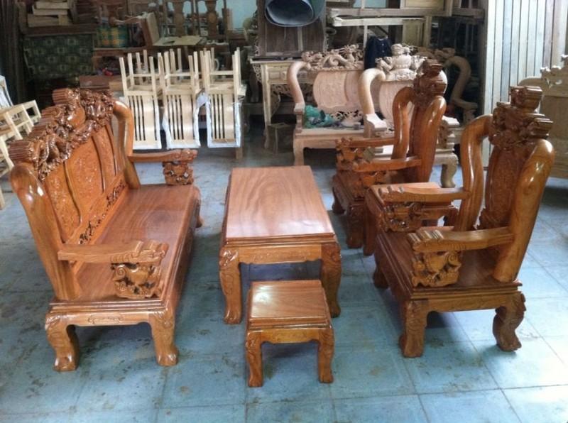 Bộ bàn ghế gỗ gõ đỏ