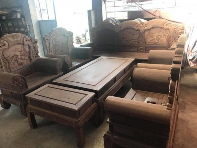 Bộ bàn ghế gỗ mun Khổng Tử