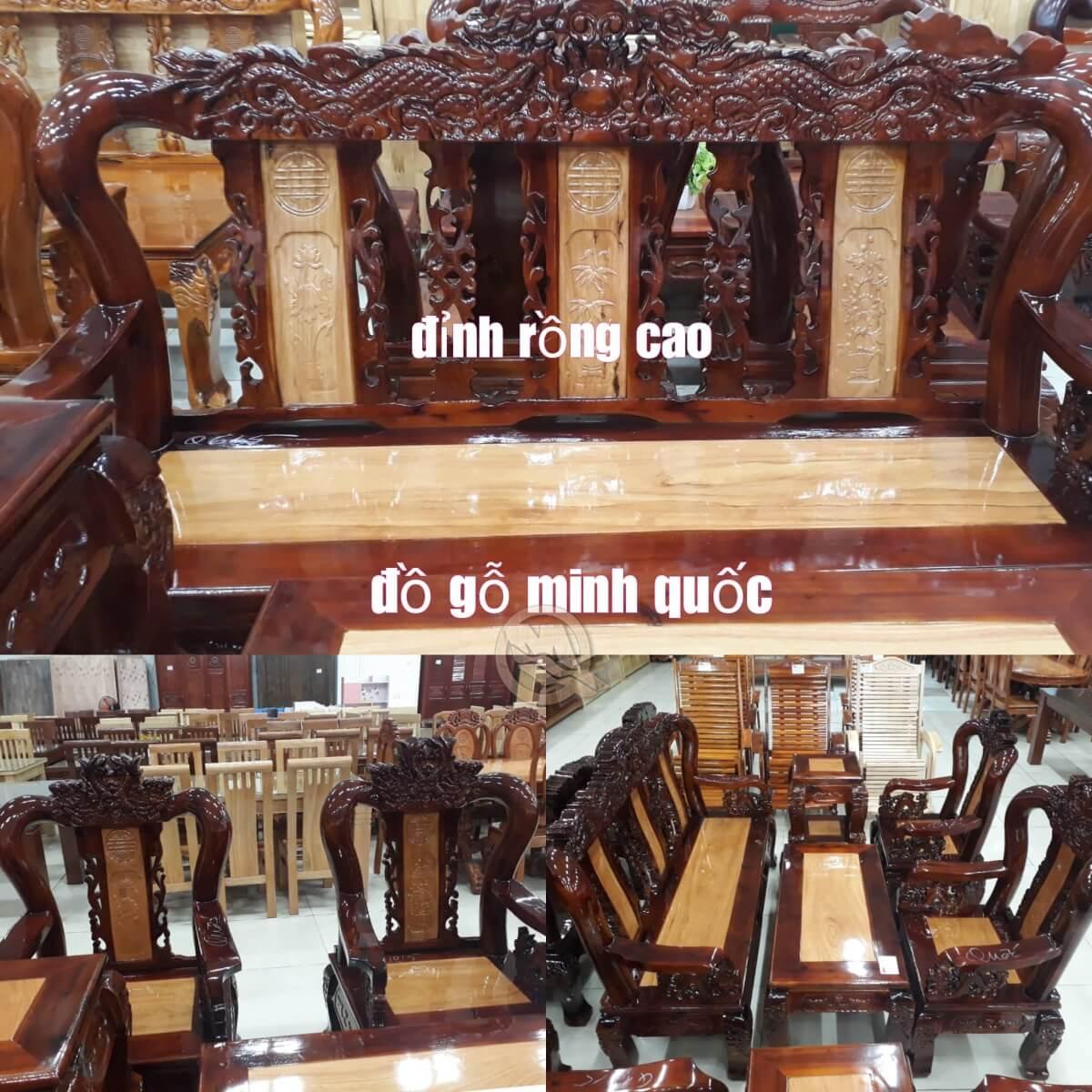 Bộ Sofa Đỉnh Rồng Gõ Tay 10 - SP533