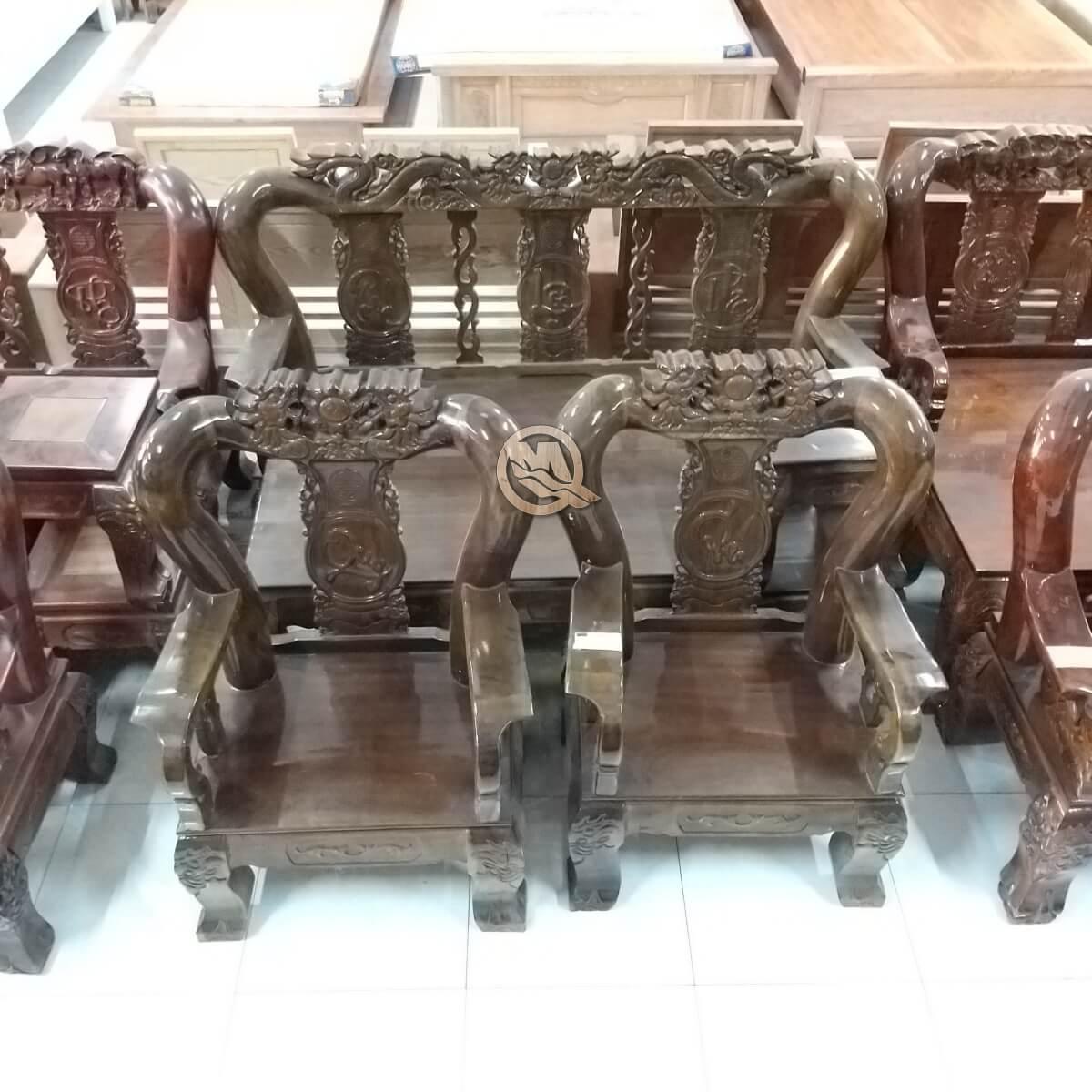 Bộ Sofa Đỉnh Rồng Gỗ Tràm - SP656