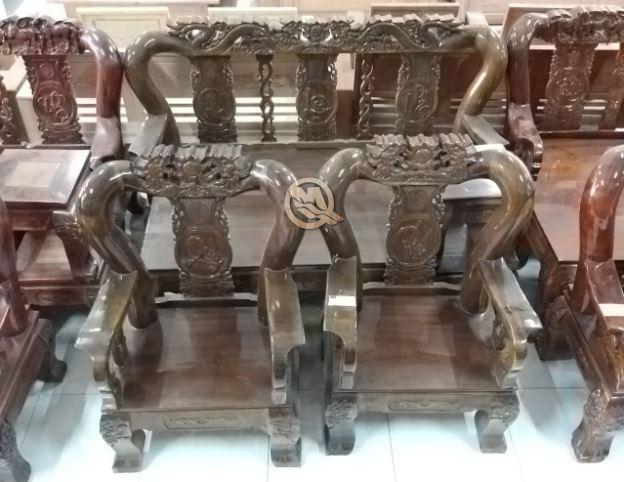 bộ sofa đỉnh rồng gỗ tràm