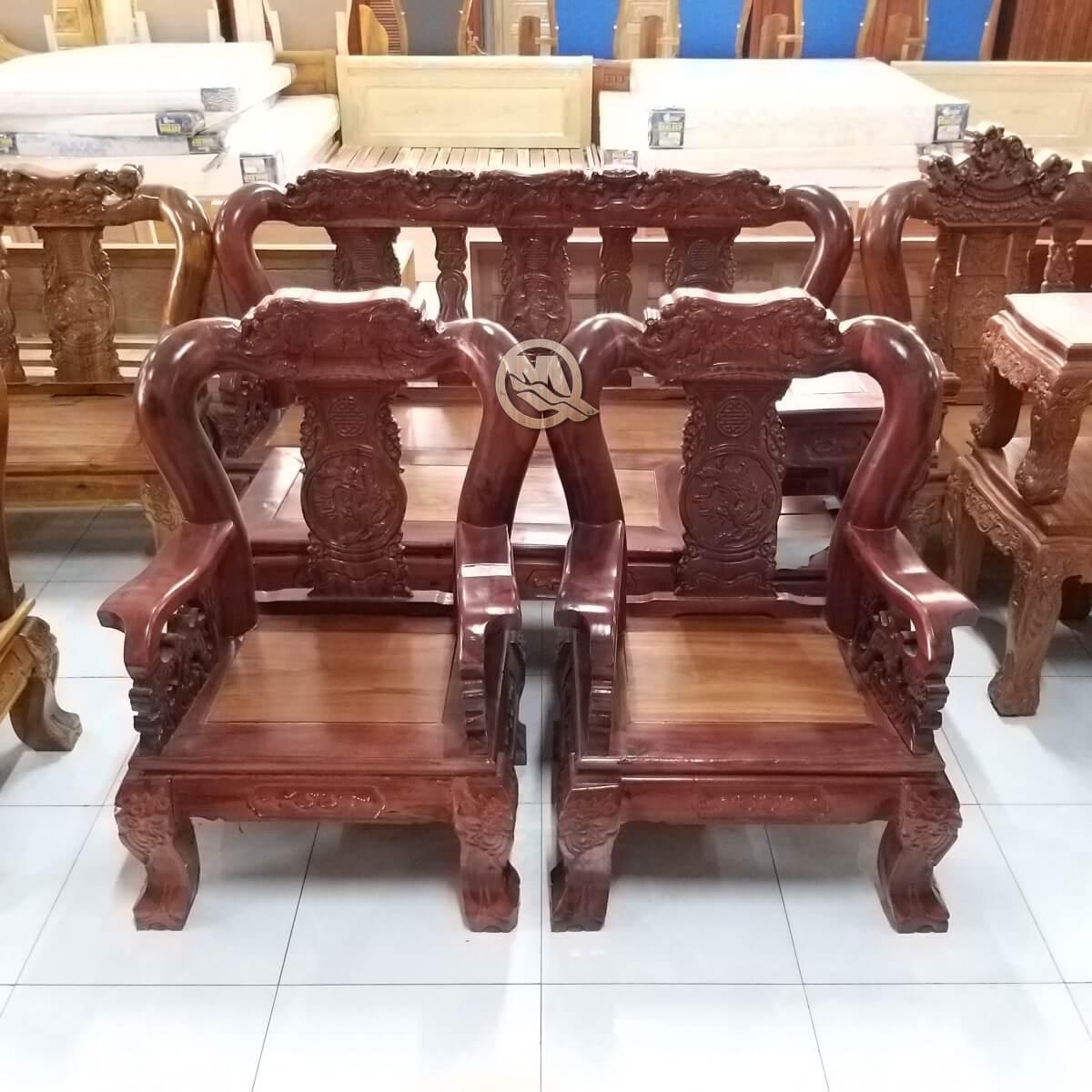 Bộ Sofa Đỉnh Voi Gỗ Tràm - SP652