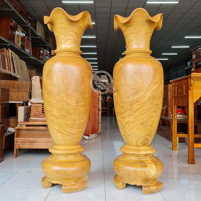 Cặp Lục Bình Gỗ Cẩm Vàng - SP785