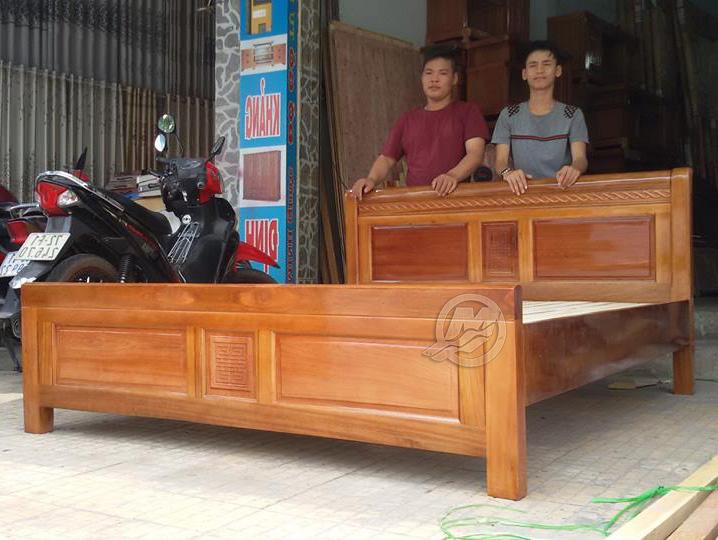 Giường gỗ xoan đào HAGL , TT - SP247