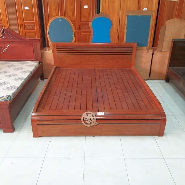 Giường Nhật Vạt Phản Đầu Cong - SP396