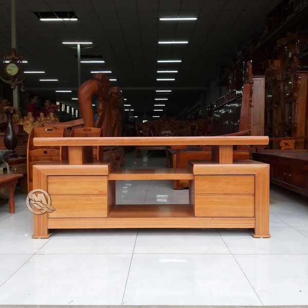 Kệ tivi kiểu Nhật gỗ Hương - mẫu 2