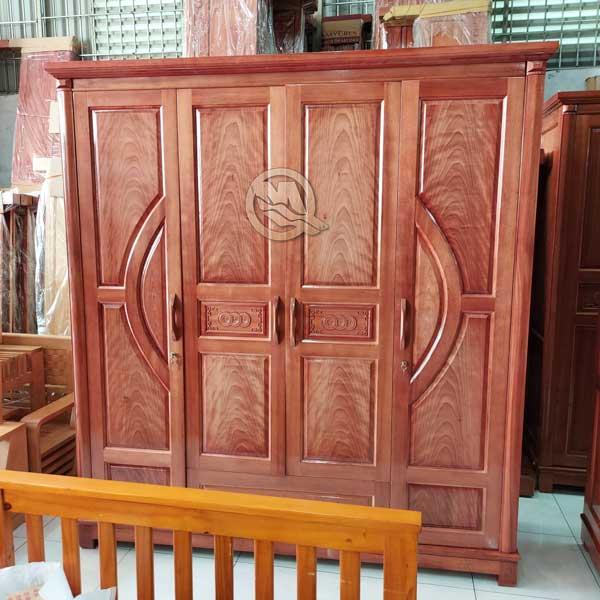 Tủ Áo 4 Cánh Cong Xoan Đào - SP727