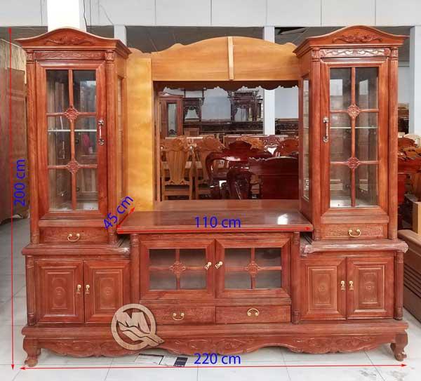 Tủ Kệ Tivi Gỗ Xoan Đào 2m2 - SP599