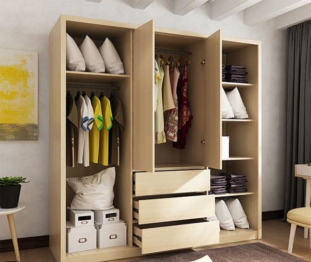 Tủ quần áo gỗ cửa lùa 3 gian