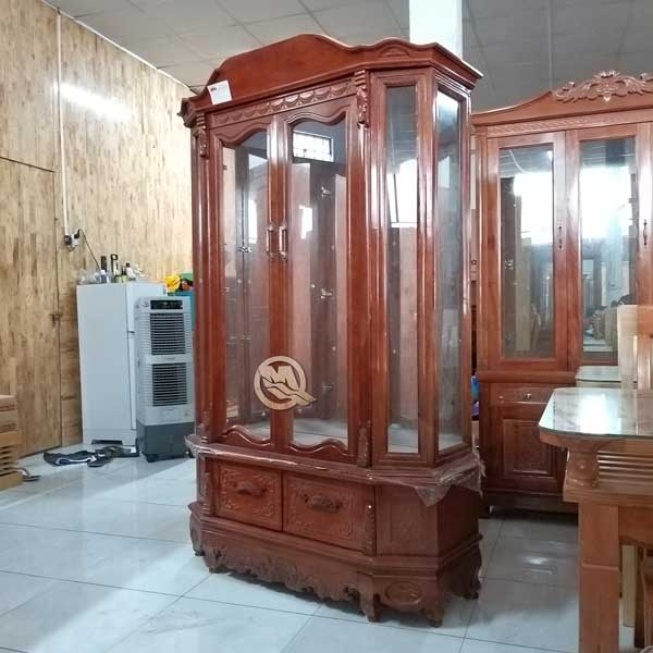 Tủ Rượu Cổ 2C Xoan Đào 1m2 - SP597