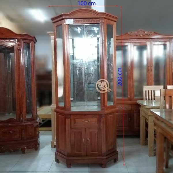 Tủ Rượu Góc 2C Xoan Đào 1M - SP595