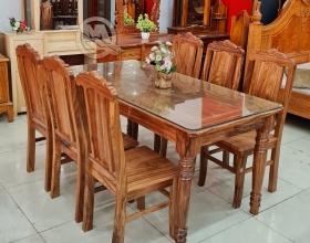 Bàn Ăn Hương Xám 6 Ghế - SP843
