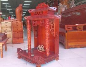 Bàn Thờ Thần Tài Mái Chùa Gỗ Tràm - SP644