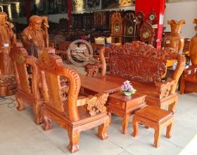 Bộ Sofa Bát Tiên Hương Đá Tay 14 - SP835