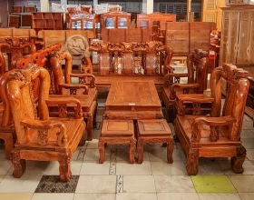 Bộ Sofa Đỉnh Đào Gỗ Hương 10 Món Tay 14 - SP817