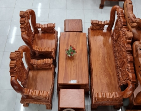 Bộ Sofa Đỉnh Nghê Hương Đá 6 Món Tay 14 - SP856
