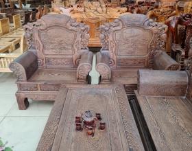 Bộ Sofa Khổng Tử Gỗ Mun - SP837