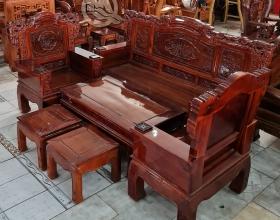 Bộ Sofa Khuỳnh Tử Gỗ Tràm - SP819