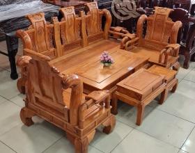 Bộ Sofa Tần Thuỷ Hoàng Tay 12 Gõ Đỏ - SP811
