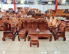 Bộ Sofa Tần Thuỷ Hoàng Tay 12 Gỗ Hương - SP812