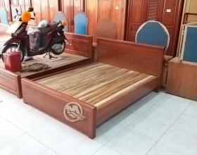Giường Xoan Trơn Vạt Nan - SP393