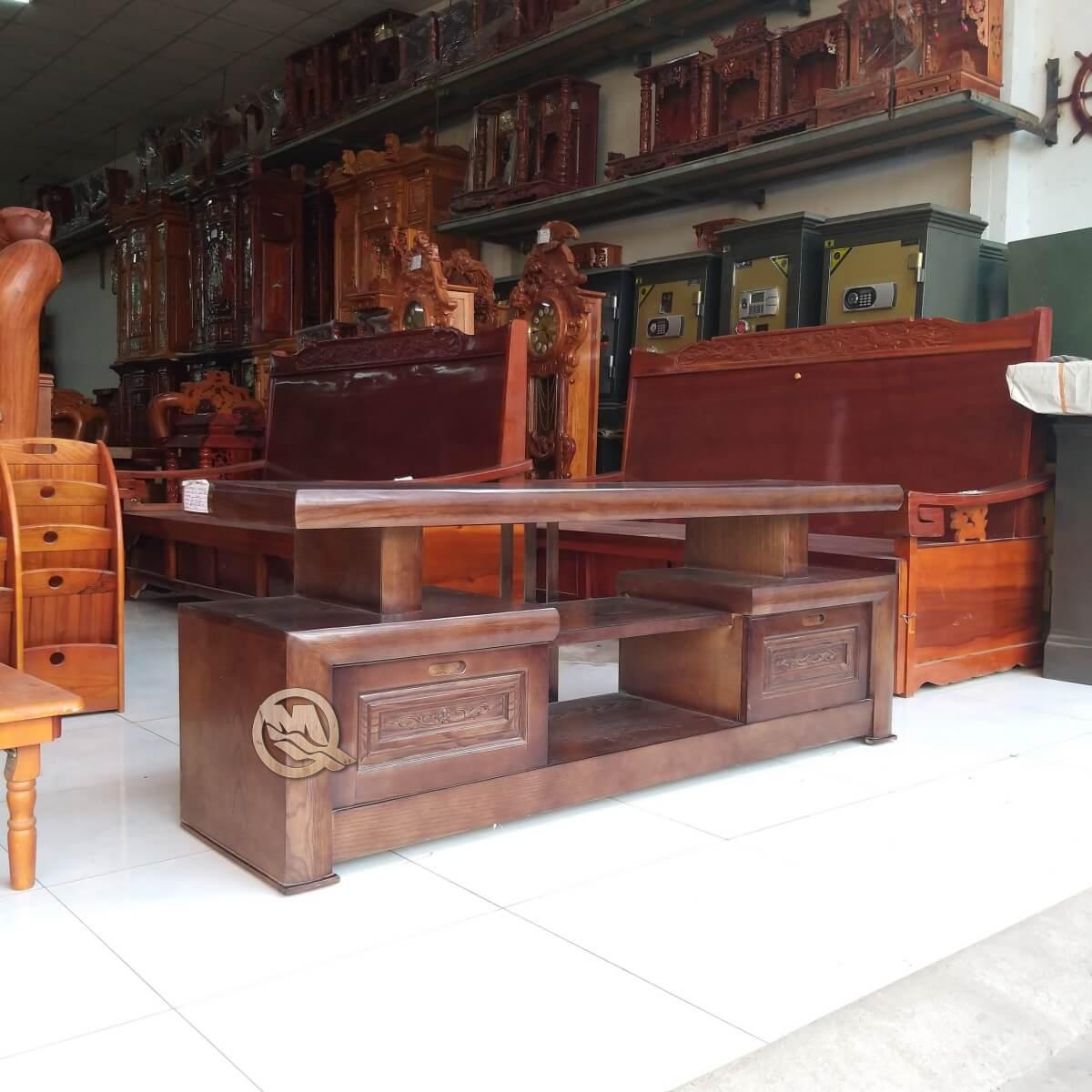 Kệ tivi kiểu nhật gỗ mun SP601 có thiết kế độc đáo