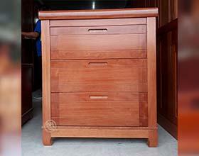 Tủ Đầu Giường Xoan Đào 3 Hộc Trơn - SP139